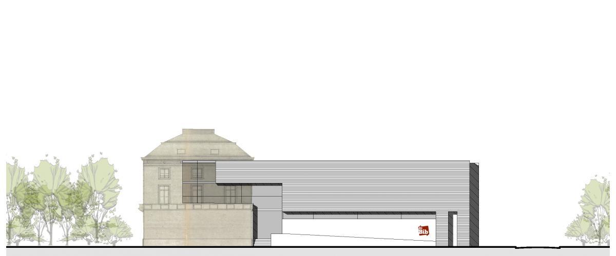 ArVD   home   Architecture   Vincent Deketelaere   Rénovation   bibliothèque de  Halle