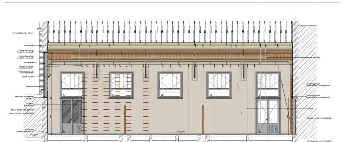 ArVD | home | Architecture | Vincent Deketelaere | Rénovation | salle de gymnastique